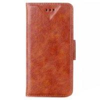 "Коричневый чехол книжка для iPhone 6 / 6s (4.7"") - Oil Grain Leather Stand Brown Case"