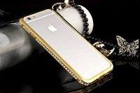 """Бампер металлический для iPhone 6 (4.7"""") золотой со стразами - Diamond Gold Bumper iPhone 6"""