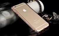 "Бампер металлический для iPhone 6 / 6s (4.7"") красное золото со стразами - Diamond Red Gold Bumper iPhone 6"