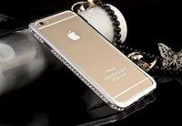 """Бампер металлический для iPhone 6 (4.7"""") серебряный со стразами - Diamond Silver Bumper iPhone 6"""