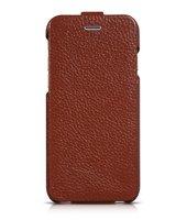 "Кожаный чехол флип для iPhone 6 Plus / 6s Plus (5.5"") коричневый - HOCO Premium Flip Genuine Leather Case"