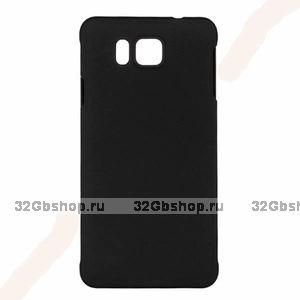 Черный пластиковый чехол для Samasung Alpha - Soft Touch Plastic Case Black
