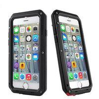 """Противоударный защитный чехол для iPhone 6 Plus / 6s Plus (5.5"""") алюминиевый черный - Taktik Shock Proof Aluminium Case"""