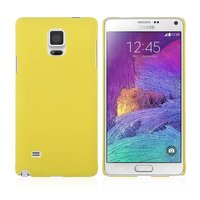 Желтый пластиковый чехол для Samsung Galaxy Note 4 - Soft Touch Hard Plastic Case Yellow