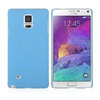 Голубой пластиковый чехол для Samsung Galaxy Note 4 - Soft Touch Hard Plastic Case Sky Blue