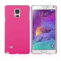 Розовый пластиковый чехол для Samsung Galaxy Note 4 - Soft Touch Hard Plastic Case Pink