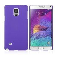 Фиолетовый пластиковый чехол для Samsung Galaxy Note 4 - Soft Touch Hard Plastic Case Purple