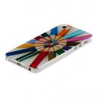 Чехол задняя накладка LuxCase для iPhone 5 / 5s / SE карандаши