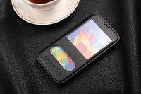 Чехол книга для Samsung Galaxy S5 с окошком черная