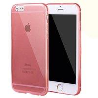 """Красный прозрачный силиконовый чехол для iPhone 6 Plus / 6s Plus (5.5"""")"""