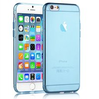 """Синий прозрачный силиконовый чехол для iPhone 6 Plus / 6s Plus (5.5"""")"""