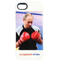 Силиконовый чехол накладка для iPhone 5s / SE / 5 с фото Владимир Путин боксирует