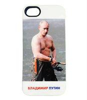 Силиконовый чехол накладка для iPhone 5s / SE / 5 с фото Владимир Путин ловит рыбу