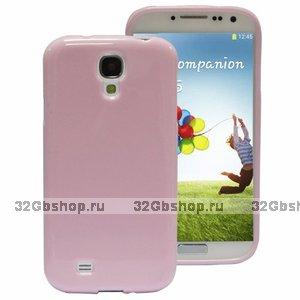 Силиконовый чехол для Samsung Galaxy S4 i9500 - Slim Silicone Case Light Pink - розовый