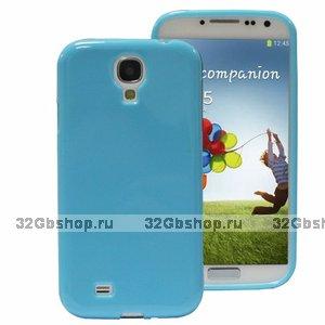 Силиконовый чехол для Samsung Galaxy S4 i9500 - Slim Silicone Case Blue - голубой
