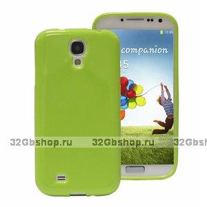 Силиконовый чехол для Samsung Galaxy S4 i9500 - Slim Silicone Case Green - зеленый