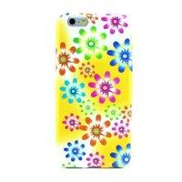 """Белый силиконовый чехол для iPhone 6 Plus / 6s Plus (5.5"""") с рисунком цветы"""