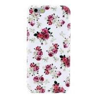 """Белый силиконовый чехол для iPhone 6 Plus / 6s Plus (5.5"""") с рисунком розы"""