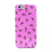"""Розовый силиконовый чехол для iPhone 6 Plus / 6s Plus (5.5"""") с рисунком цветы"""
