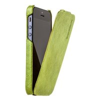 Кожаный чехол Borofone для iPhone 5s / SE / 5 зеленый - Borofone General flip Leather case green