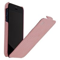 Кожаный чехол для iPhone 5s / SE / 5 HOCO Lizard pattern Leather Case Pink