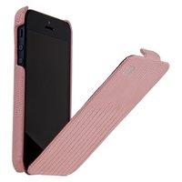 Кожаный чехол для iPhone 5s / SE / 5 HOCO Lizard pattern Leather Case Pink