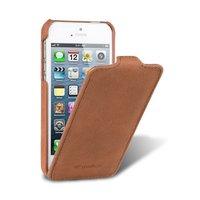 Замшевый чехол Melkco для iPhone 5s / SE / 5 - Leather Case Jacka Type Vintage Brown коричневая замша