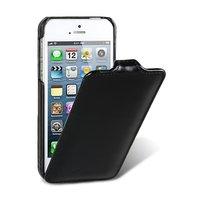 Винтажный кожаный чехол Melkco для iPhone 5s / SE / 5 черный - Leather Case Jacka Type Vintage Black