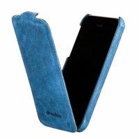 Винтажный кожаный чехол Melkco для iPhone 5s / SE / 5 синий - Leather Case Jacka Type Vintage Blue