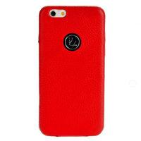 """Красный кожаный чехол накладка Jisoncase для iPhone 6 / 6s (4.7"""")"""