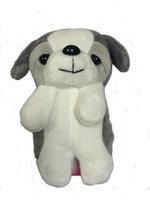 Чехол накладка силиконовый для iPhone 5 / 5s / SE со съёмной игрушкой собачка