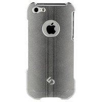 Алюминиевый защитный чехол накладка 4th M2 для iPhone 5s / SE /5 серебристый