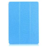Голубой чехол книжка обложка для iPad Air 2 - Silk Pattern Smart Cover & Crystal Back Case Blue