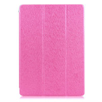 Розовый чехол книжка обложка для iPad Air 2 - Silk Pattern Smart Cover & Crystal Back Case Pink