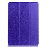 Фиолетовый чехол книжка обложка для iPad Air 2 - Silk Pattern Smart Cover & Crystal Back Case Purple
