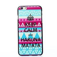 "Пластиковый чехол накладка для iPhone 6 Plus / 6s Plus (5.5"") скандинавский узор Keep Calm and Hakuna Matata"