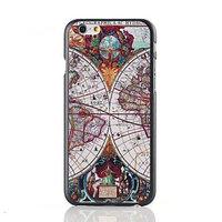 "Пластиковый чехол накладка для iPhone 6 Plus / 6s Plus (5.5"") с рисунком ретро карта"