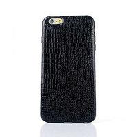 """Черный силиконовый чехол для iPhone 6 Plus / 6s Plus (5.5"""") кожа крокодила"""