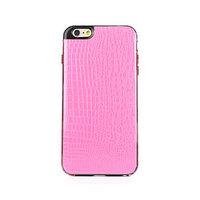 """Розовый силиконовый чехол для iPhone 6 Plus / 6s Plus (5.5"""") кожа крокодила"""