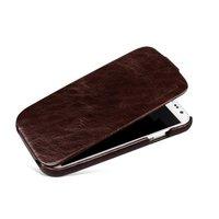 Кожаный чехол для Samsung S4 коричневый - Borofone General Leather Сase for Samsung Galaxy S4 - Brown