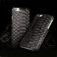 """Премиум чехол из кожи змеи для iPhone 6 / 6s (4.7"""") черный"""