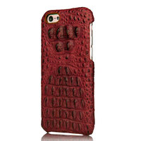 """Премиум чехол из кожи крокодила для iPhone 6 / 6s (4.7"""") красный"""