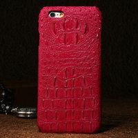 """Премиум чехол из кожи крокодила для iPhone 6 / 6s (4.7"""") розовый"""