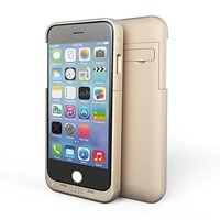 Чехол батарея для iPhone 6 Plus золотой - Power Bank Case 4800mAh
