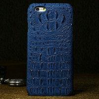 "Премиум чехол из кожи крокодила для iPhone 6 / 6s (4.7"") синий"