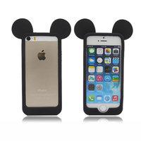 Силиконовый бампер для iPhone 5s / SE / 5 уши Микимауса