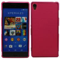 Розовый силиконовый чехол для Sony Xperia Z3