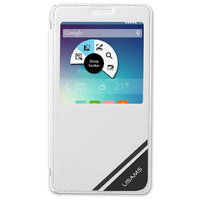 Белый чехол книжка c окошком Usams для Samsung Galaxy Note 4 - Usams Viva Series S View Case White