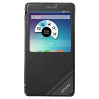 Черный чехол книжка c окошком Usams для Samsung Galaxy Note 4 - Usams Viva Series S View Case Black
