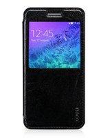 Кожаный чехол книжка с подставкой Hoco для Samsung Galaxy Note 4 с окном черный - Hoco S View Case Black